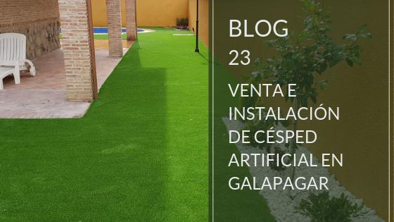 venta e instalación de césped artificial en Galapagar