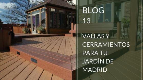 Vallas y cerramientos para jardines en Madrid