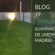 Iluminación de jardines en Madrid