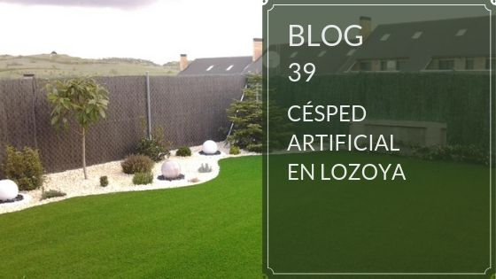 césped artificial en lozoya